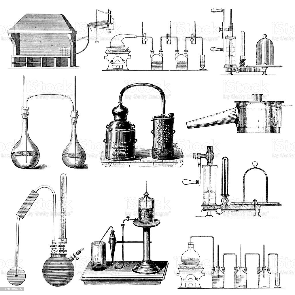 hight resolution of chemical laboratory equipment antique chemistry scientific clipart illustrations royalty free chemical laboratory equipment antique