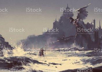 dark fantasy castle istock