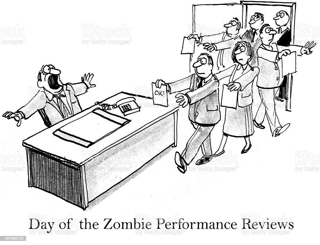 Day Of The Zombie Performance Reviews Stock Vector Art