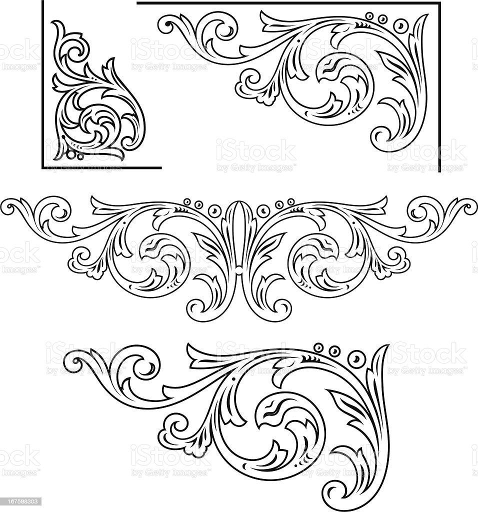 Decorative Corner Scrolls Stock Vector Art & More Images