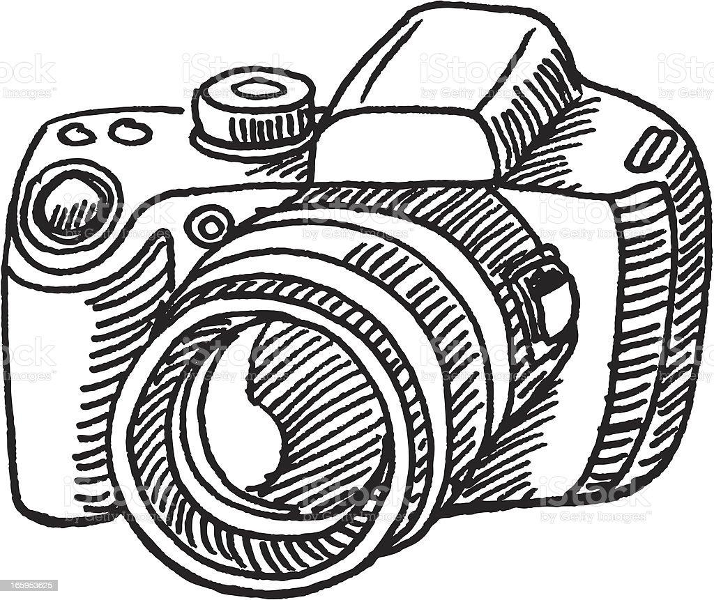 Digital Camera Sketch Stock Vector Art & More Images of