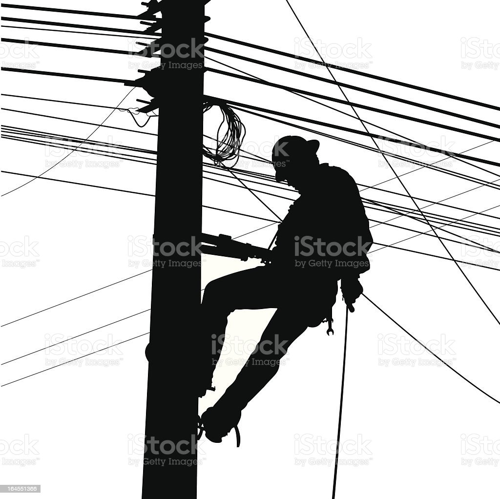 Electric Worker Silouete Stock Vector Art & More Images of