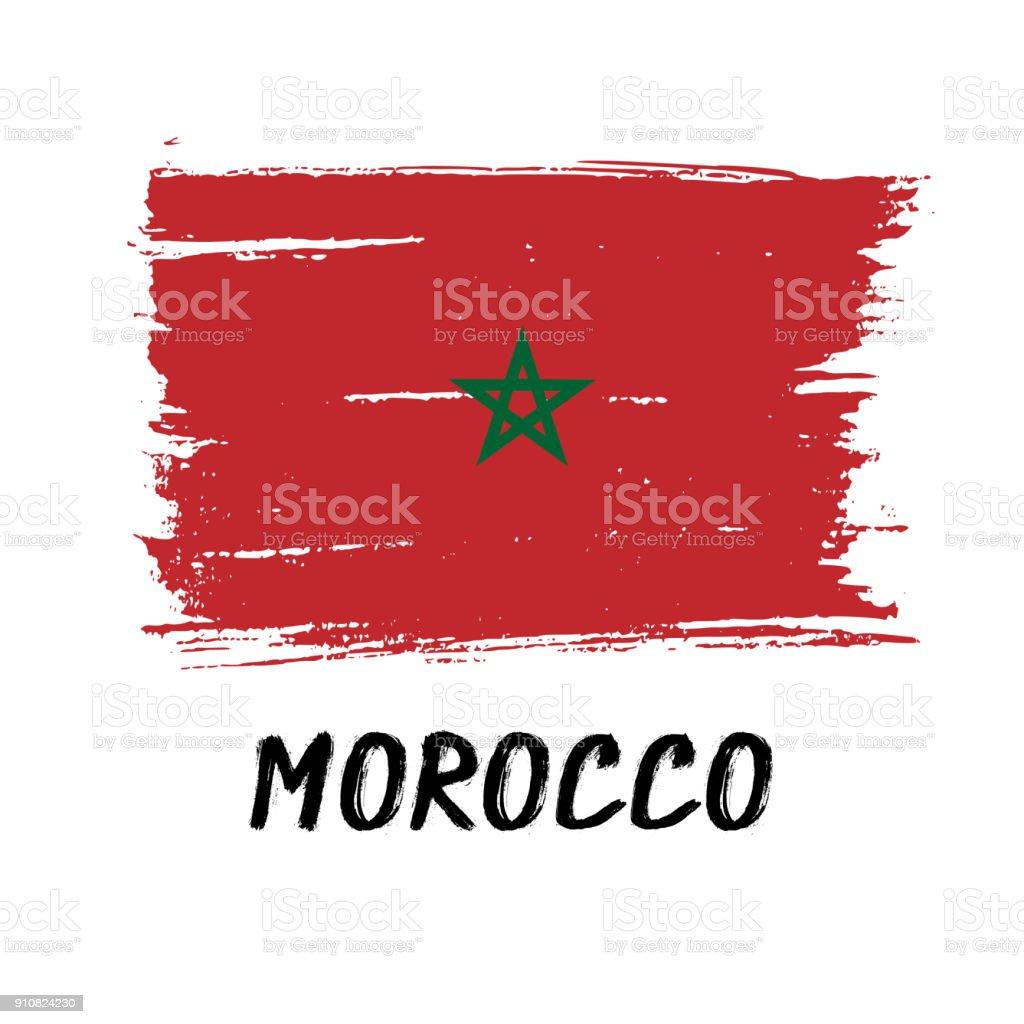moroccan flag illustrations
