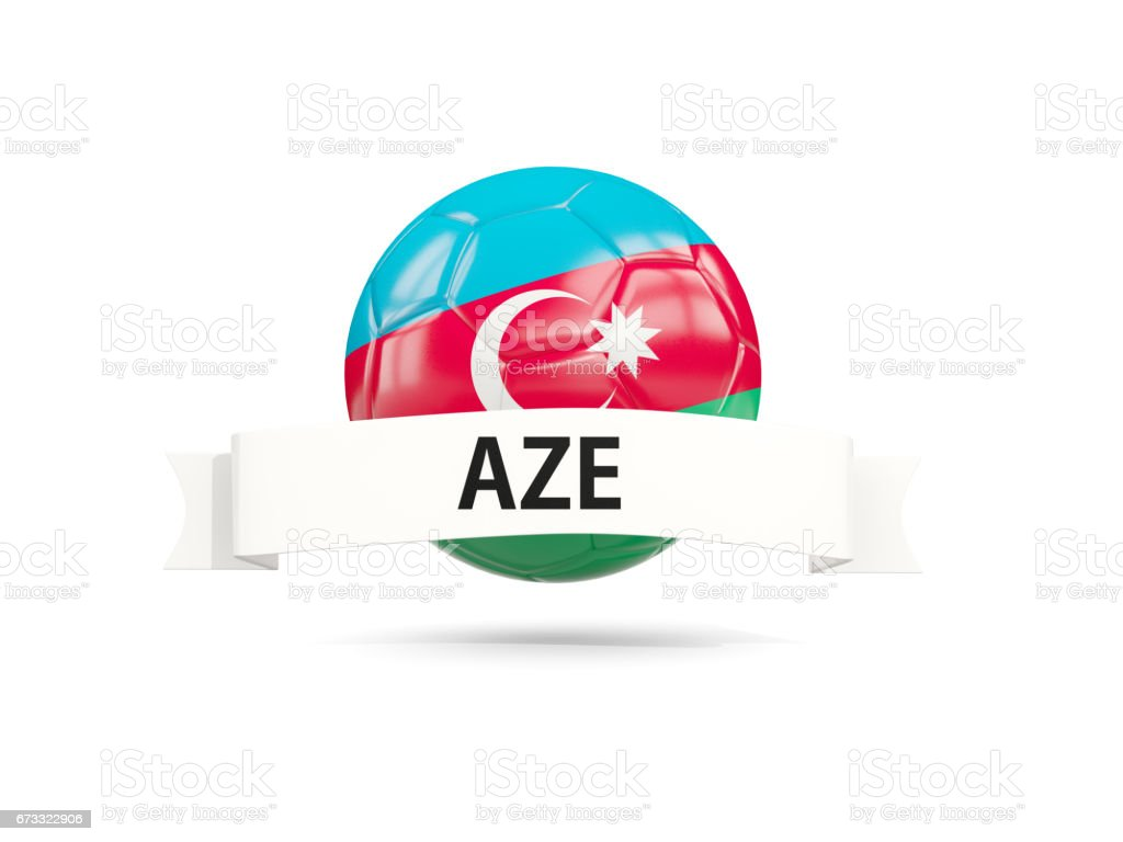 football with flag of