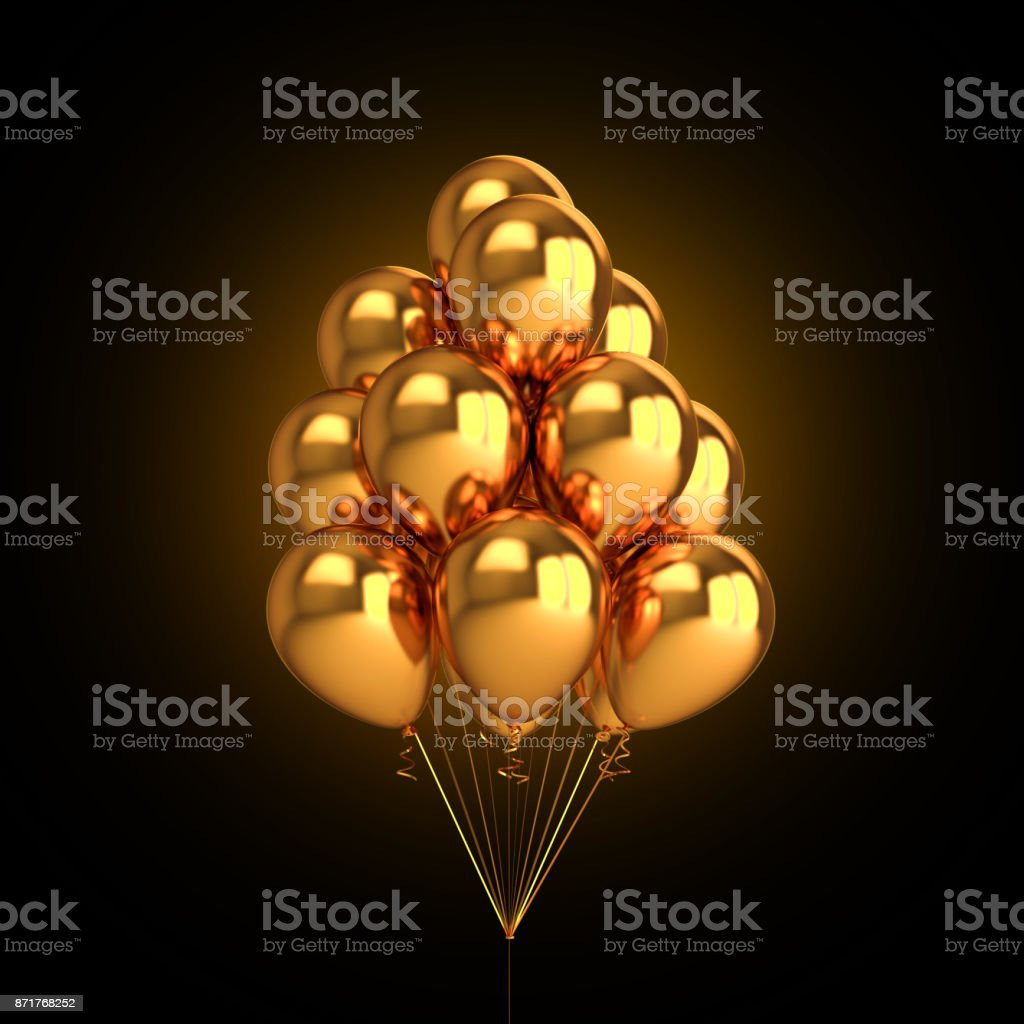 royalty free metallic balloon clip