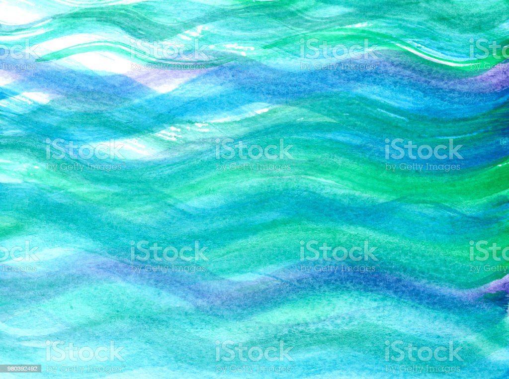 greenblueviolet abstract waves in