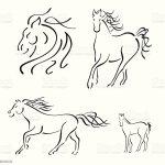 Horse Design Set Stock Illustration Download Image Now Istock