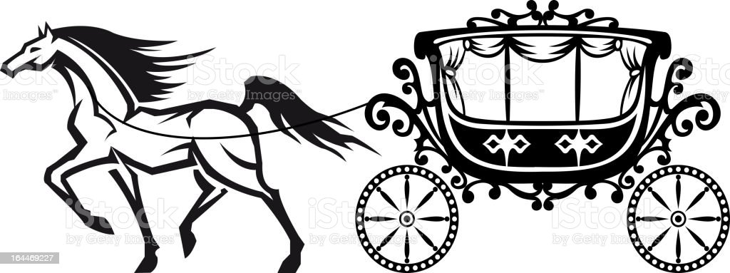Horse With Vintage Carriage Stock Vector Art & More Images