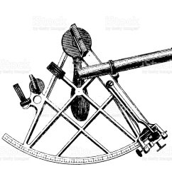 illustration of an ink drawn diagram of a sextant apparatus royalty free illustration of an [ 1024 x 860 Pixel ]