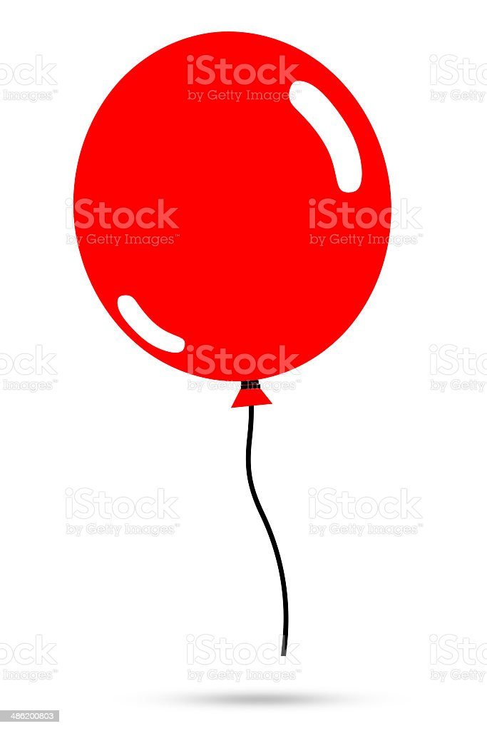 royalty free red balloon silhouettes