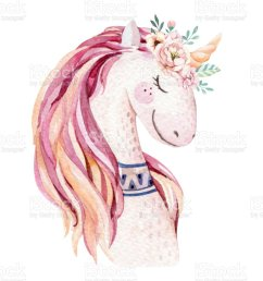 isolated cute watercolor unicorn clipart with flowers nursery unicorns illustration princess rainbow poster  [ 813 x 1024 Pixel ]