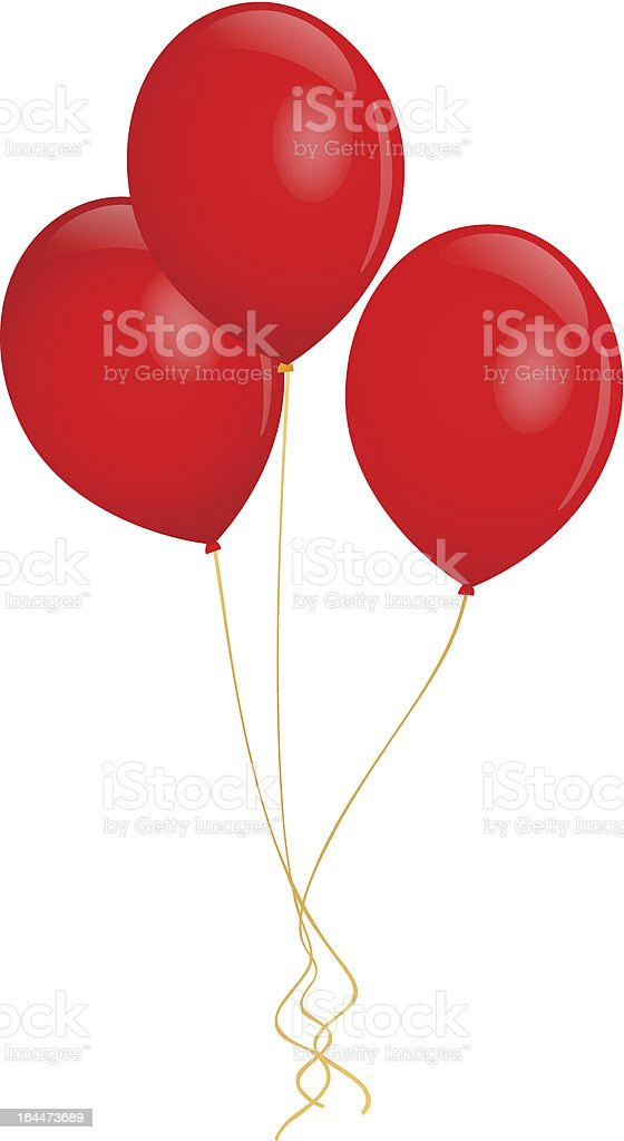 royalty free red balloon clip art