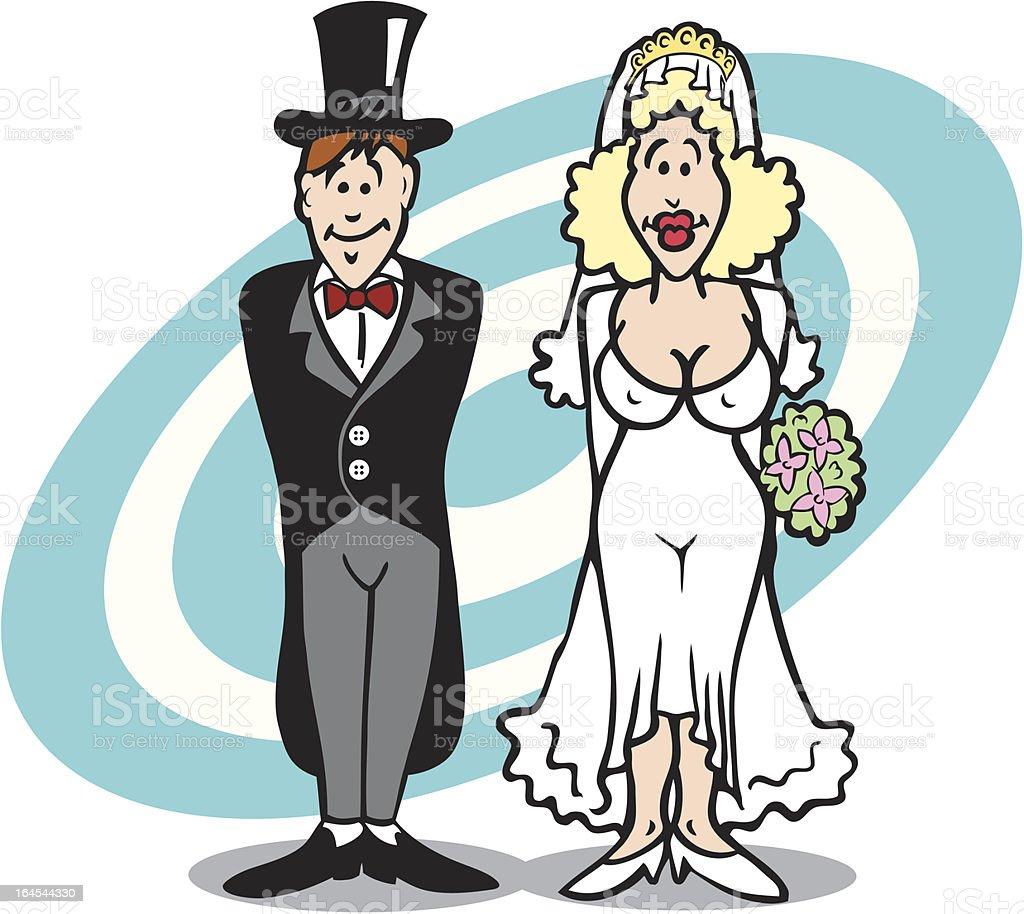Hochzeit Verheiratet Paar Mit Sexy Braut Comic Stock