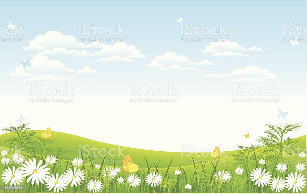 meadow clip art vector