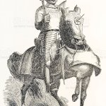 Medieval English Knight On War Horse Stock Illustration Download Image Now Istock
