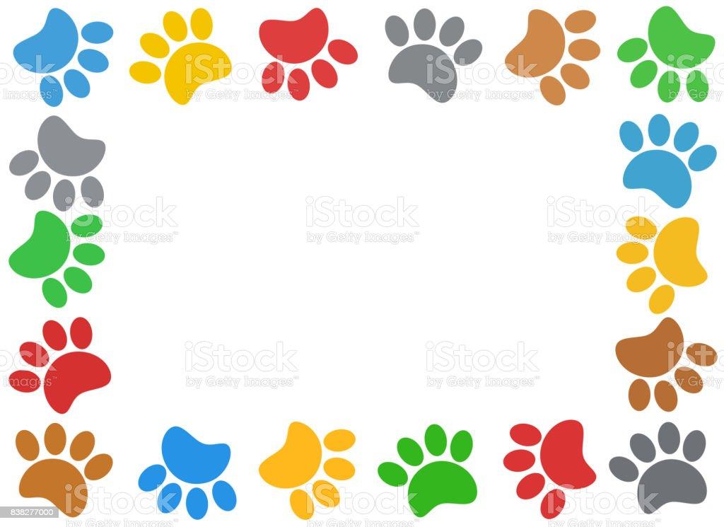 multicolored paw print animal