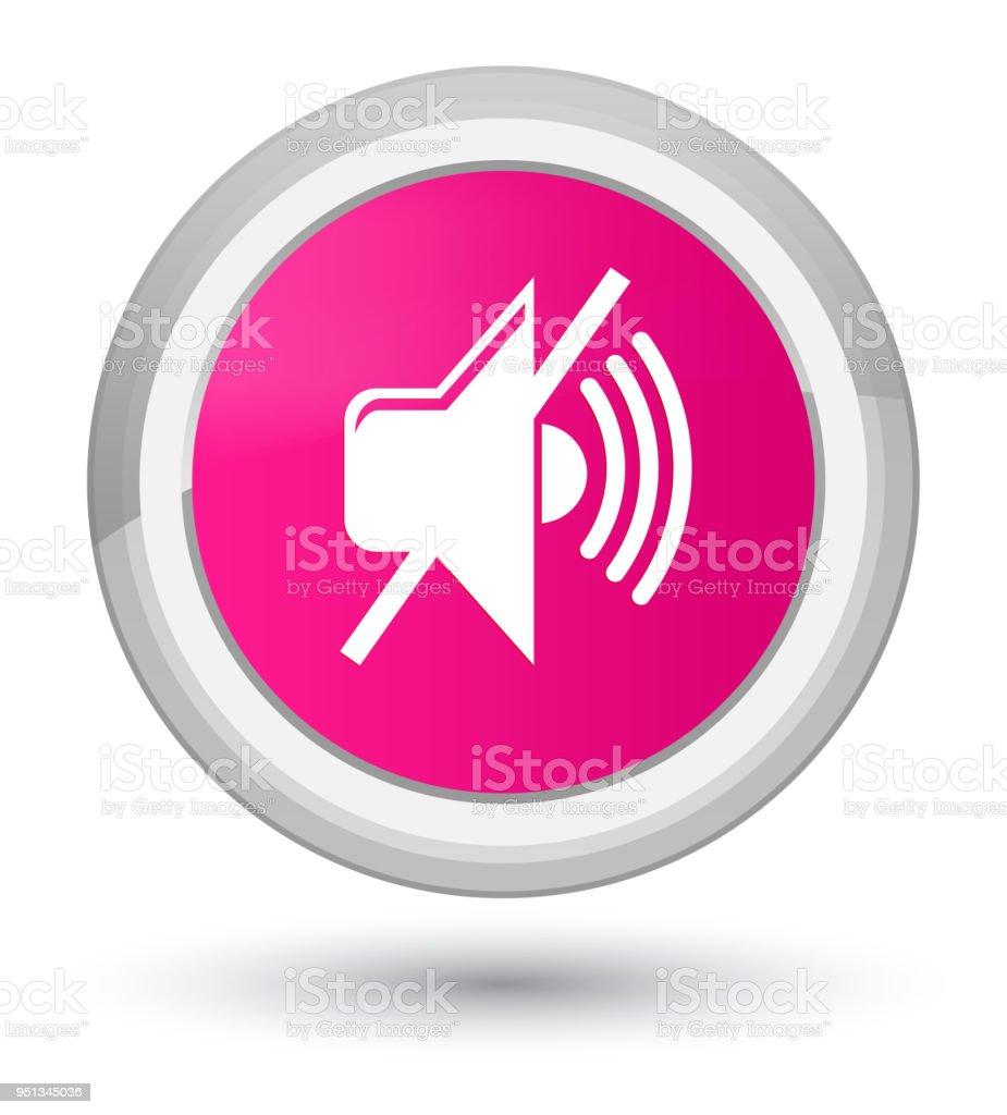 Couper Le Premier Icone De Volume Rose Rond Bouton Vecteurs Libres De Droits Et Plus D Images Vectorielles De Bruit Istock