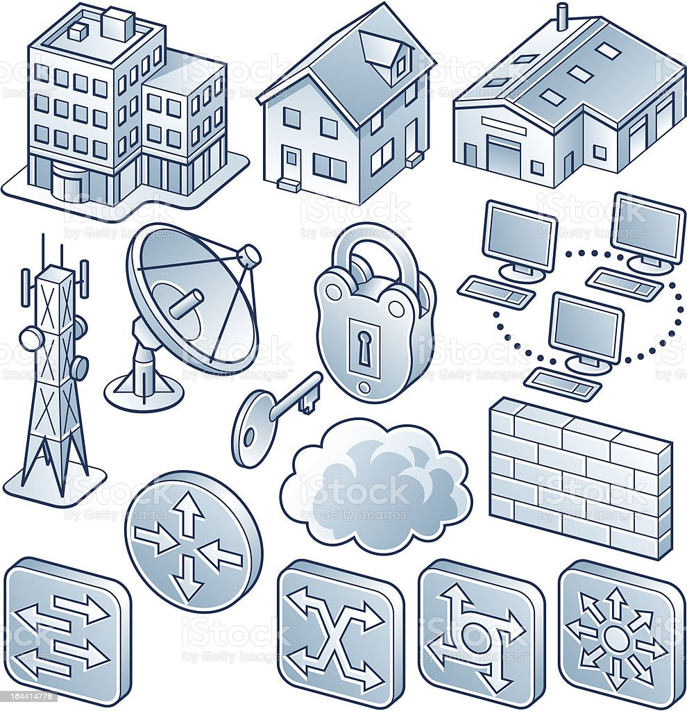 network diagram component icons