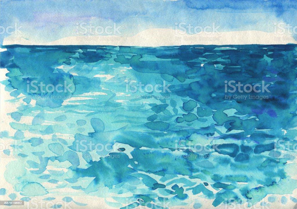 海洋水彩手繪插畫向量圖形及更多俄羅斯圖片 - iStock