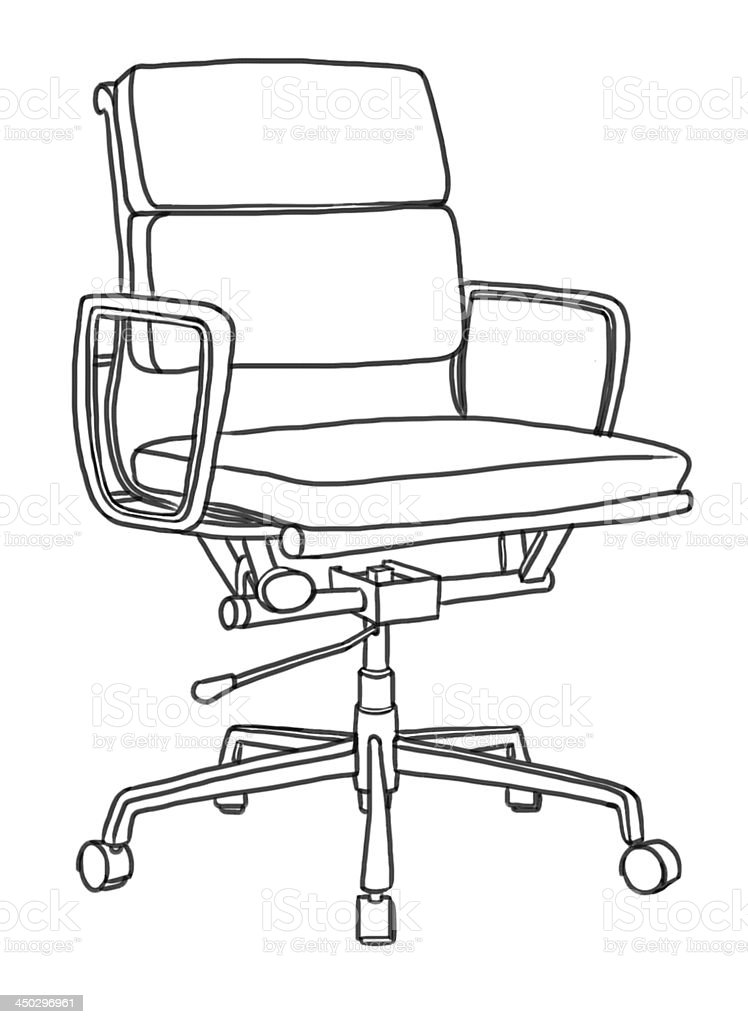 office chair illustration childrens folding table and set hand drawing stock vector art more royalty free