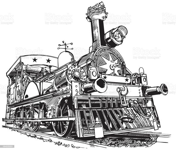 Steam Train Stock Illustration
