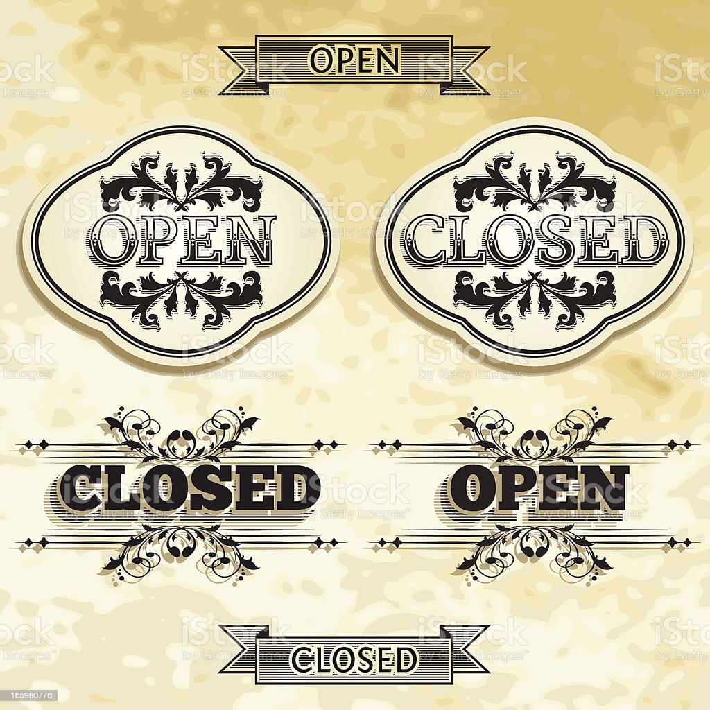 best vintage open closed