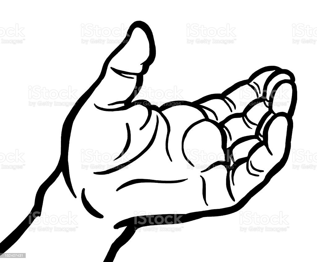 Open Hand Stock Vector Art & More Images of Black And