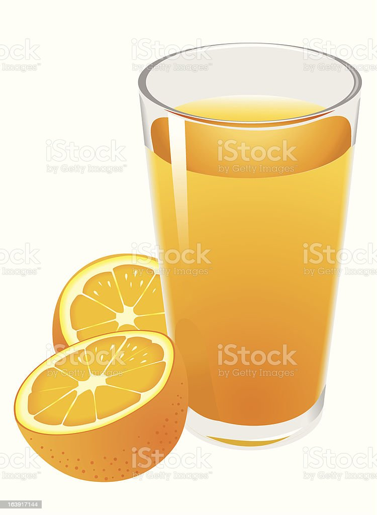 royalty free orange juice clip