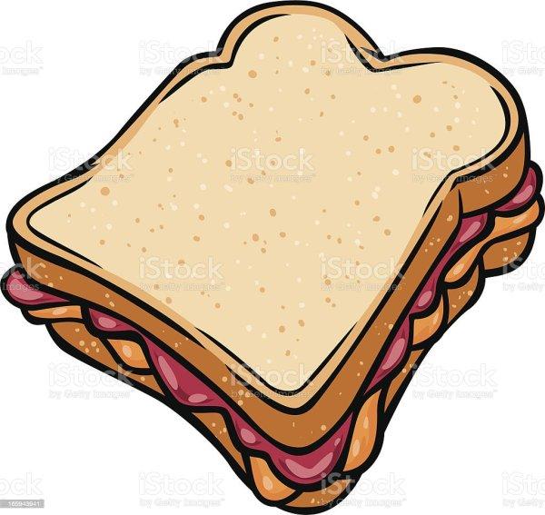 peanut butter jelly sandwich stock