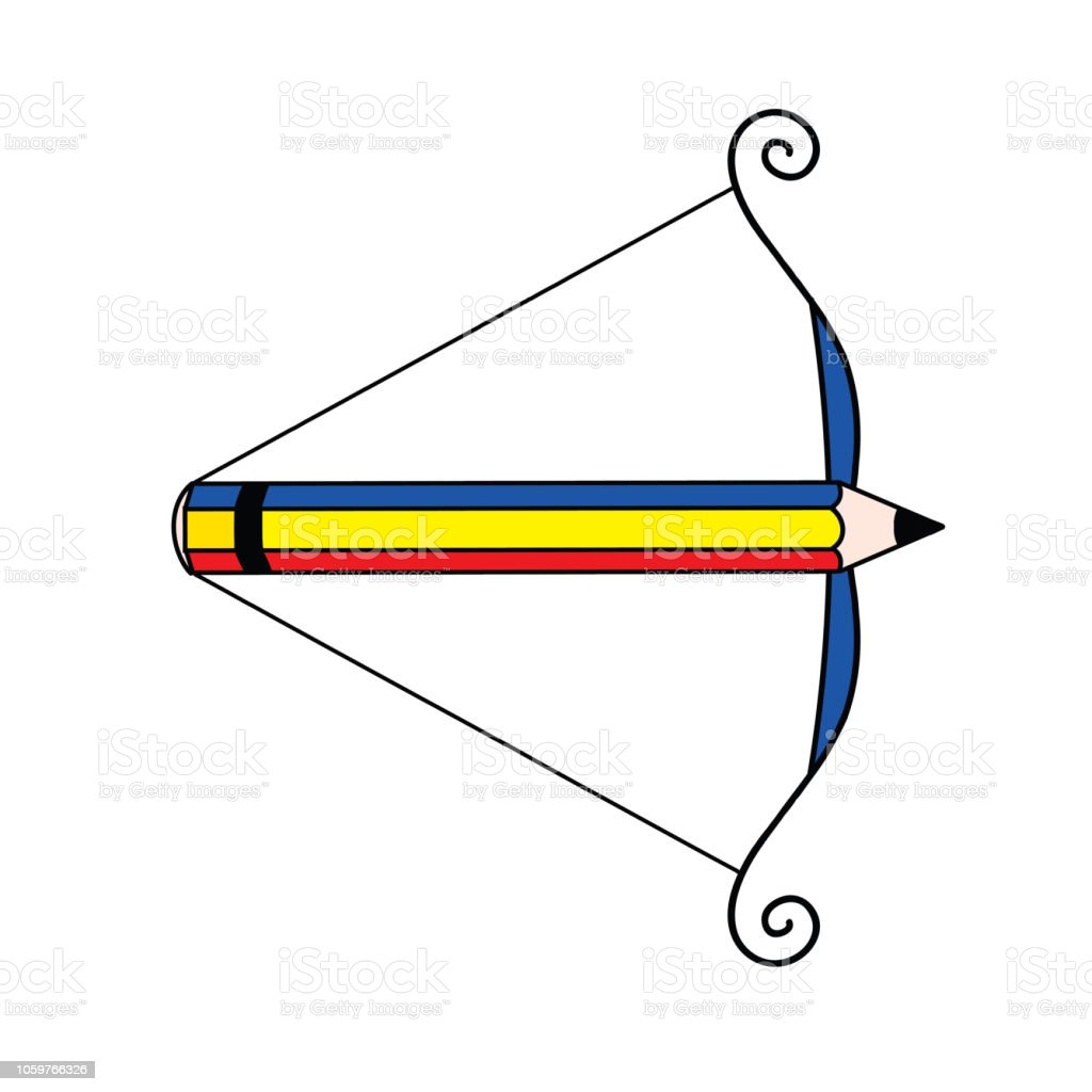 hight resolution of pencil arrow loaded bow art symbol illustration art symbol illustration picture a large range of applications illustration