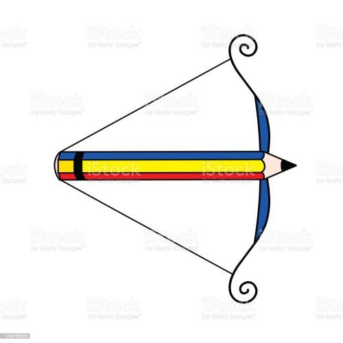 small resolution of pencil arrow loaded bow art symbol illustration art symbol illustration picture a large range of applications illustration