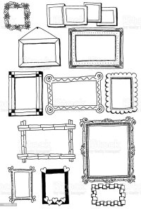 Picture Frame Doodles Stock Vector Art & More Images of ...