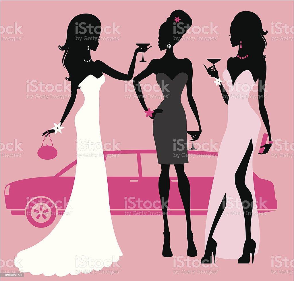 prom clip art vector &