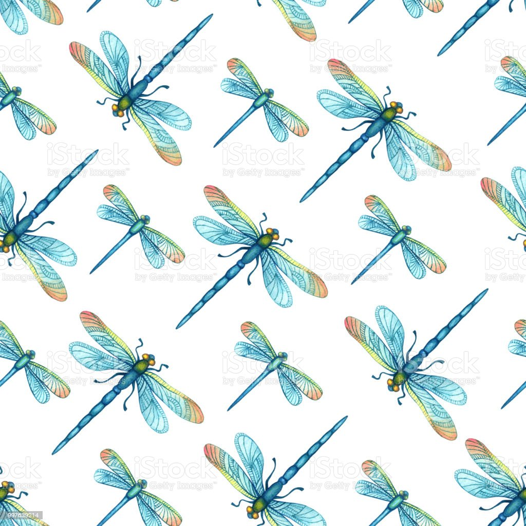 seamless pattern with watercolor