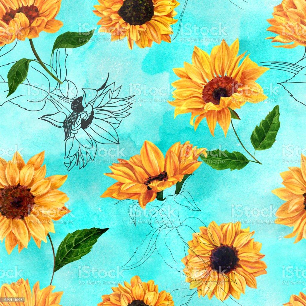 royalty free orange sunflower clip