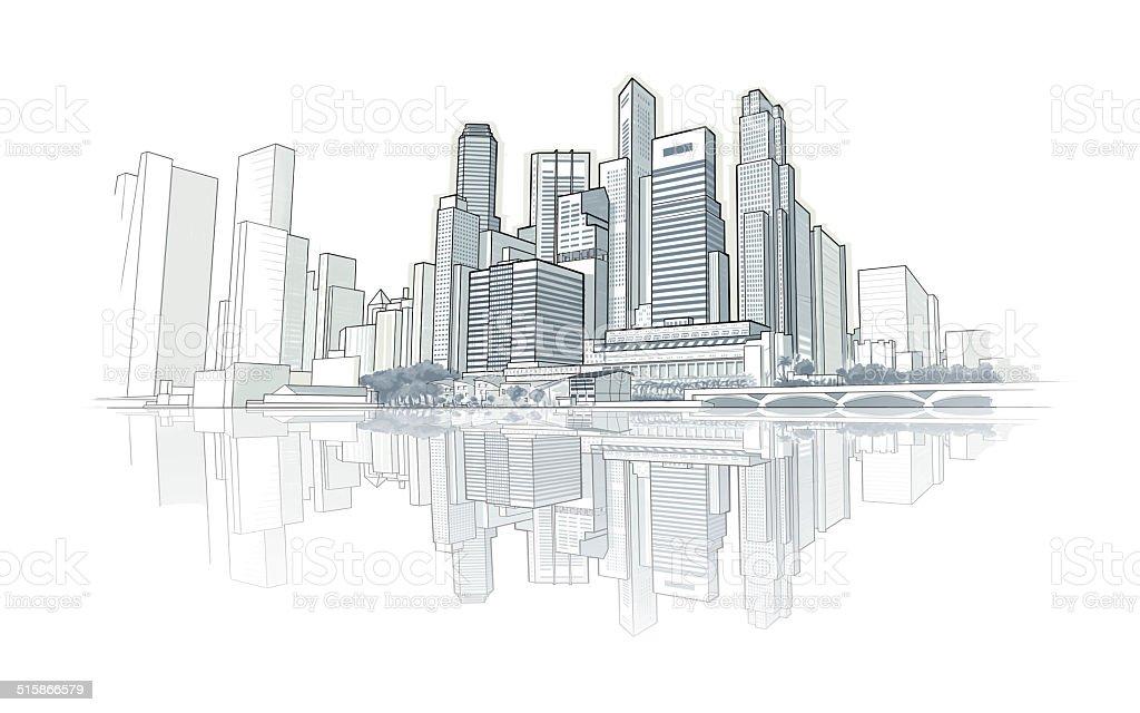 https www istockphoto com fr vectoriel dessin vue sur la ville gm515866579 48052984