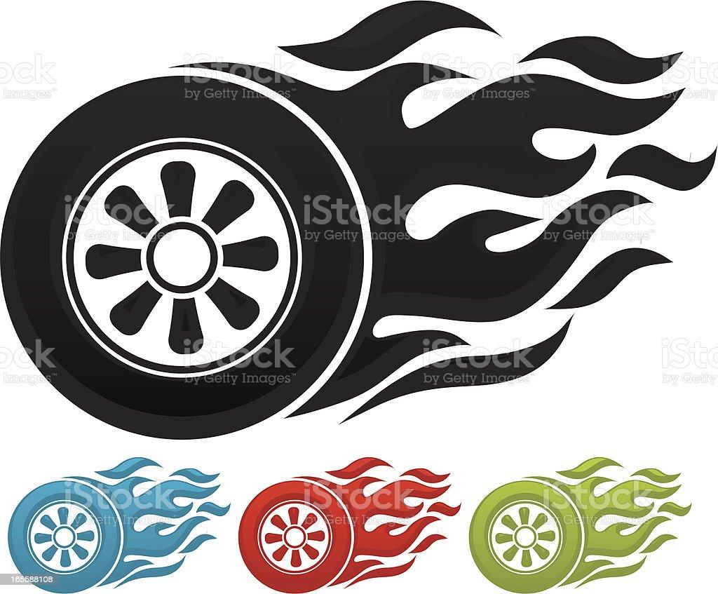 Road Tire Tracks Clip Art