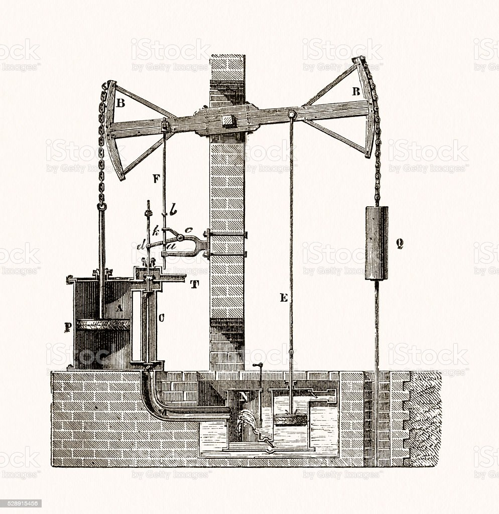 hight resolution of steam engine schematic drawing illustration