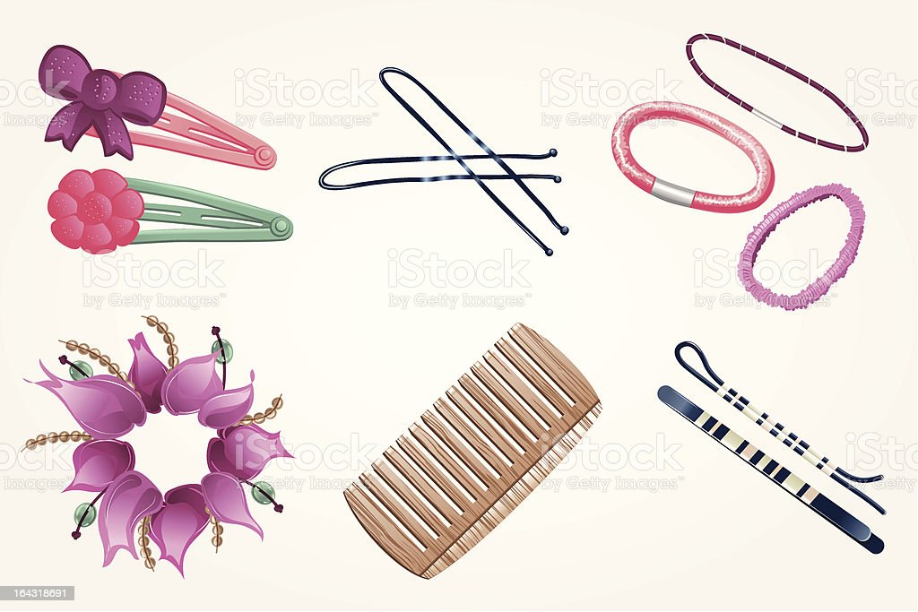 royalty free hair accessories clip