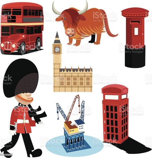 Symboles Du Royaumeuni Cliparts Vectoriels De Angleterre 167593690 Istock
