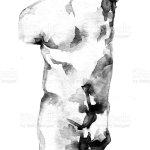 Torso Skulptur Vektorgrafik Och Fler Bilder Pa Akvarellmalning Istock