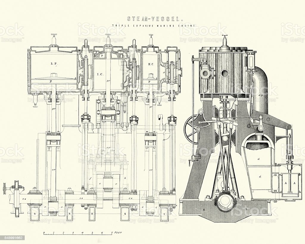 hight resolution of victorian machines triple expansive marine steam engine royalty free victorian machines triple expansive marine
