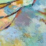 Lebendige Abstrakte Minimalistische Malerei Hintergrund Mit Gemischten Farbe Textur Kunstwerk Malerei Mit Roter Linie Und Hellblauen Blobs Stock Vektor Art Und Mehr Bilder Von Abstrakt Istock