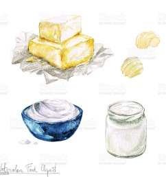 watercolor food clipart dairy products and cheese royalty free watercolor food clipart dairy products [ 1024 x 1024 Pixel ]