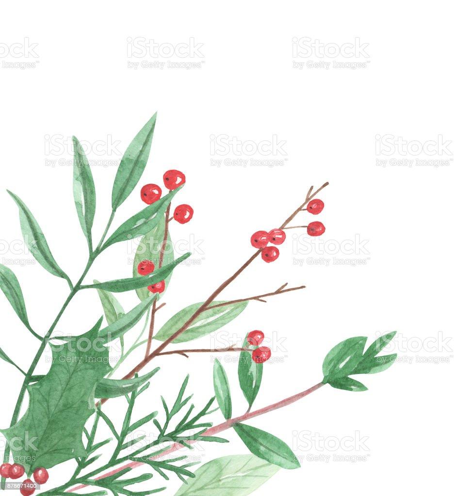watercolor holidays corner christmas