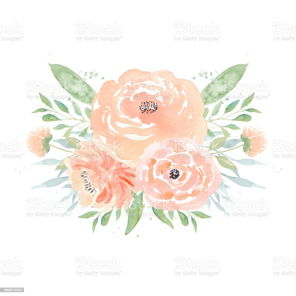 hight resolution of watercolor wedding flowers watercolor peonies and leaves floral arrangement wedding clipart royalty