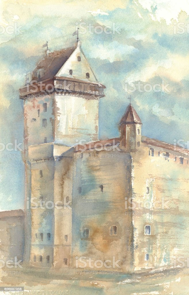 Medieval Castle Painting : medieval, castle, painting, Watercolour, Painting, Medieval, Castle, Stock, Illustration, Download, Image, IStock