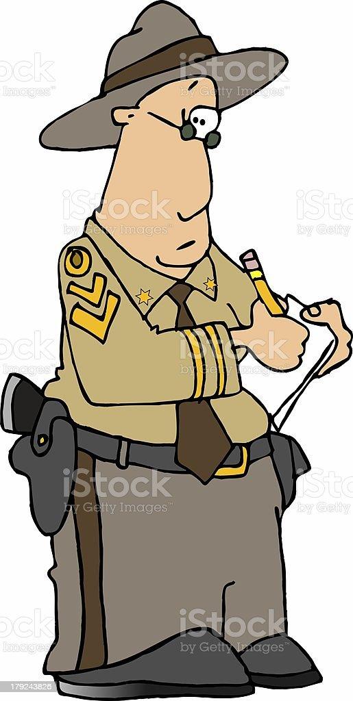 royalty free highway patrol clip