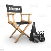 3d Directors Chair On Film Set Stock Photo & More Pictures ...