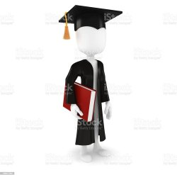 graduate 3d cartoon student congratulations graduation dottorando porta uomo libro dell che carrying similar